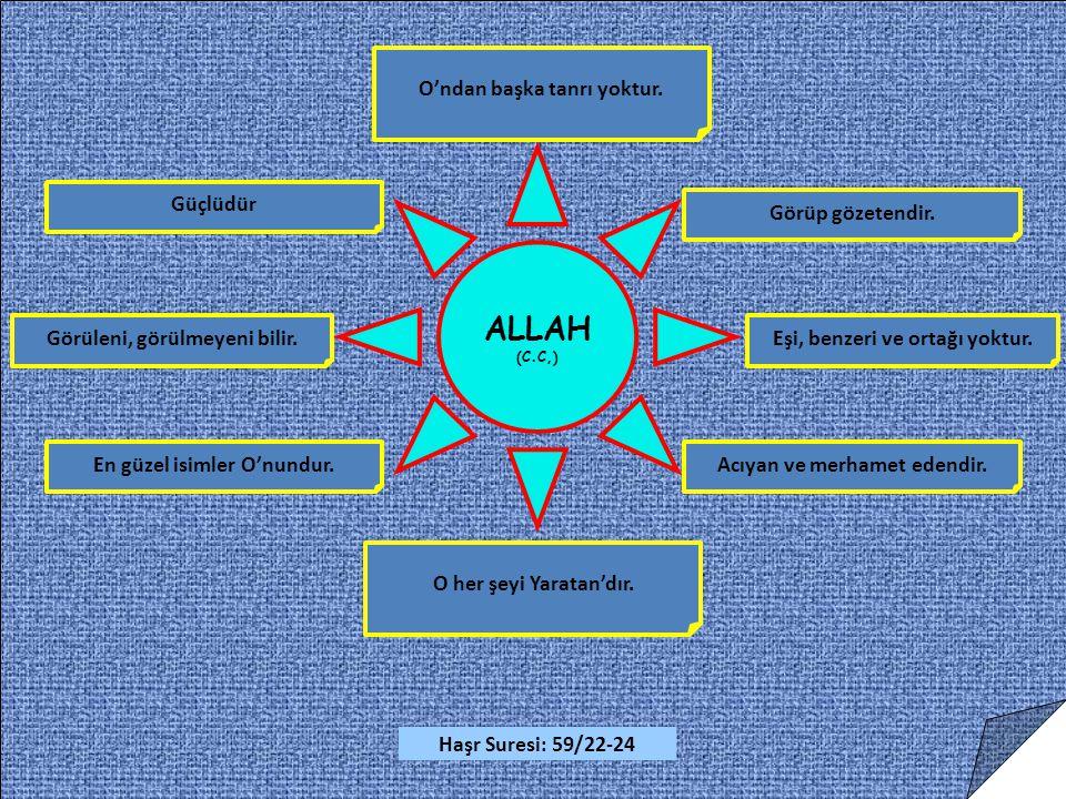 ALLAH O'ndan başka tanrı yoktur. Güçlüdür Görüp gözetendir.