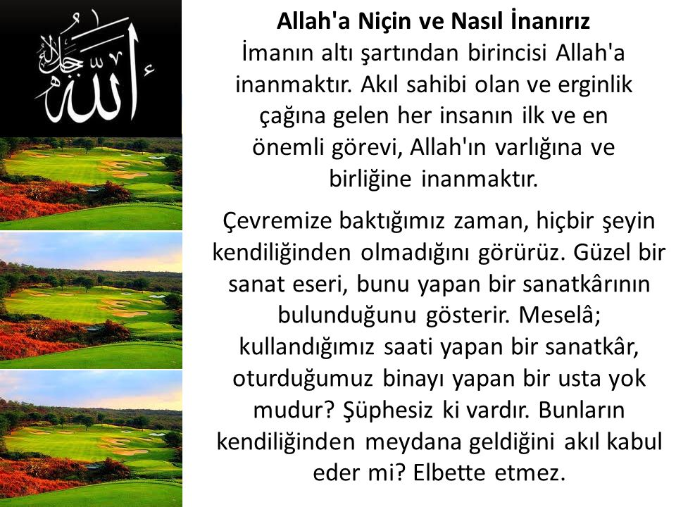 Allah a Niçin ve Nasıl İnanırız