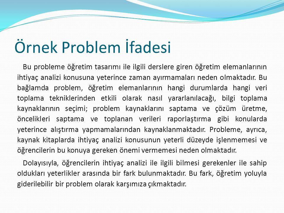 Örnek Problem İfadesi