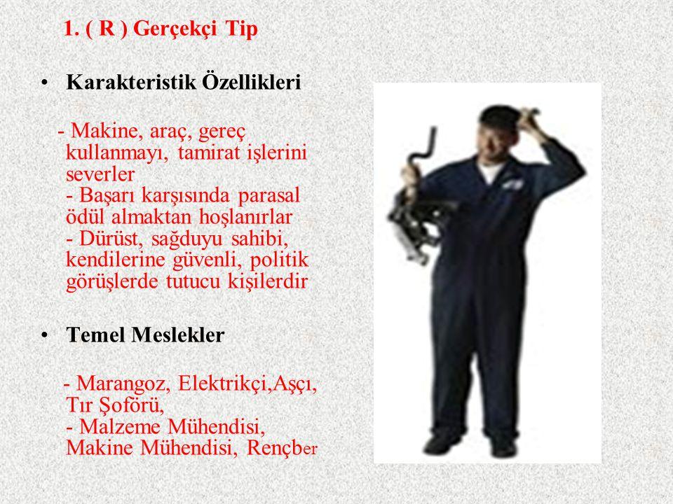1. ( R ) Gerçekçi Tip Karakteristik Özellikleri.