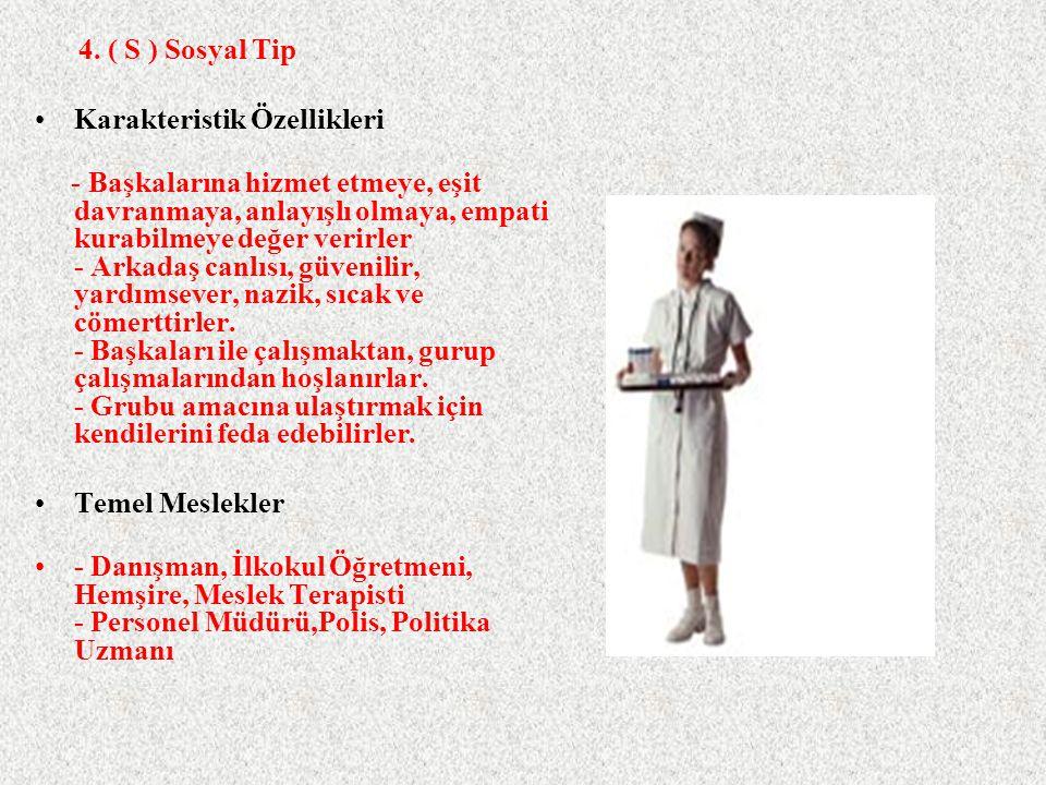 4. ( S ) Sosyal Tip Karakteristik Özellikleri.