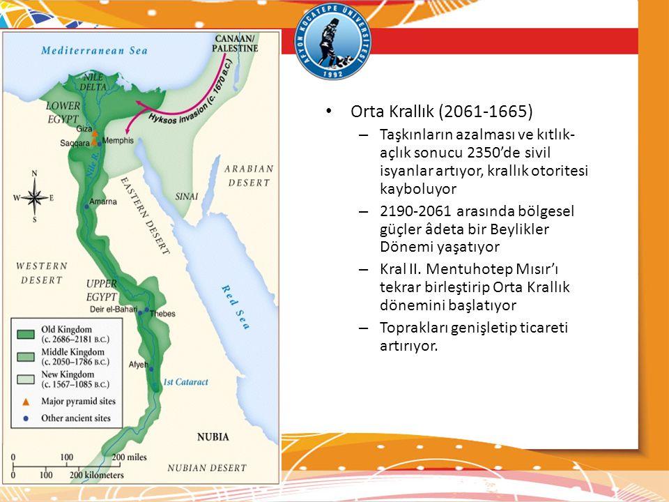 Orta Krallık (2061-1665) Taşkınların azalması ve kıtlık-açlık sonucu 2350'de sivil isyanlar artıyor, krallık otoritesi kayboluyor.