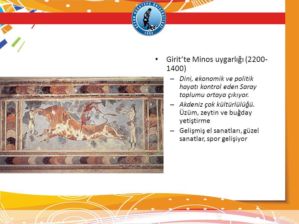 Girit'te Minos uygarlığı (2200-1400)
