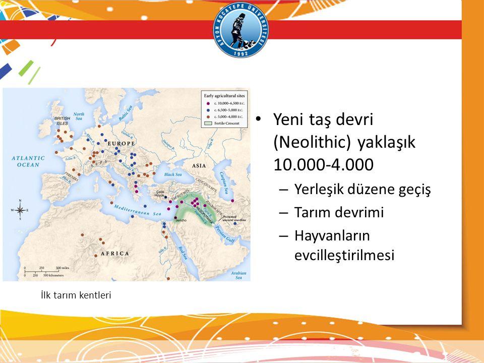 Yeni taş devri (Neolithic) yaklaşık 10.000-4.000