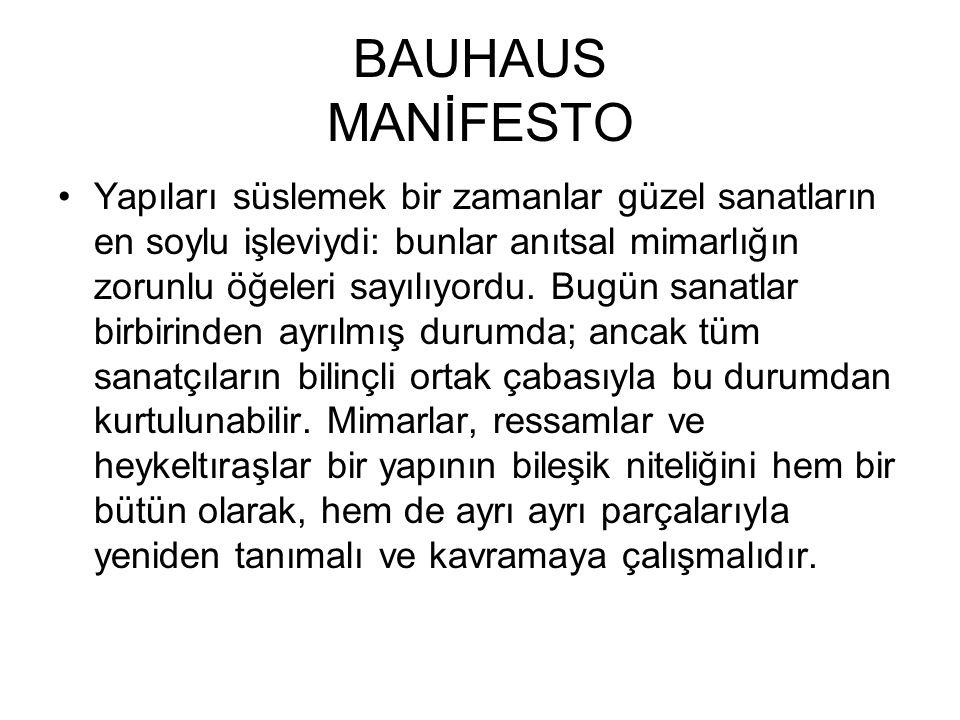 BAUHAUS MANİFESTO