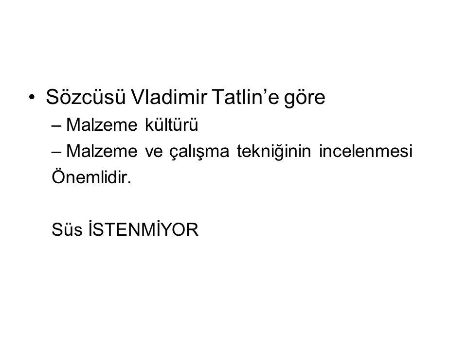 Sözcüsü Vladimir Tatlin'e göre