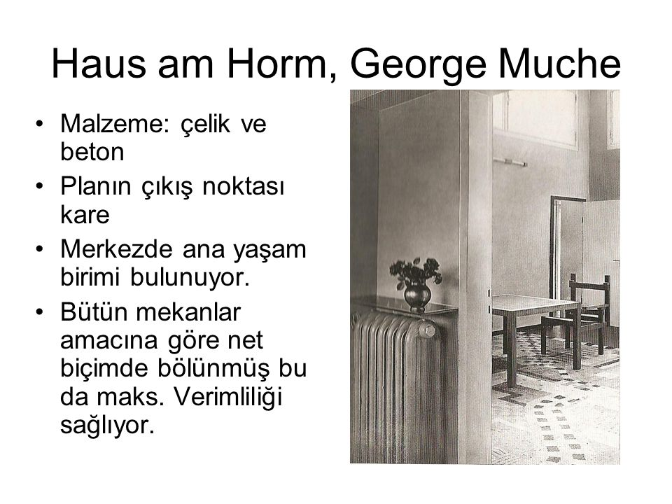Haus am Horm, George Muche
