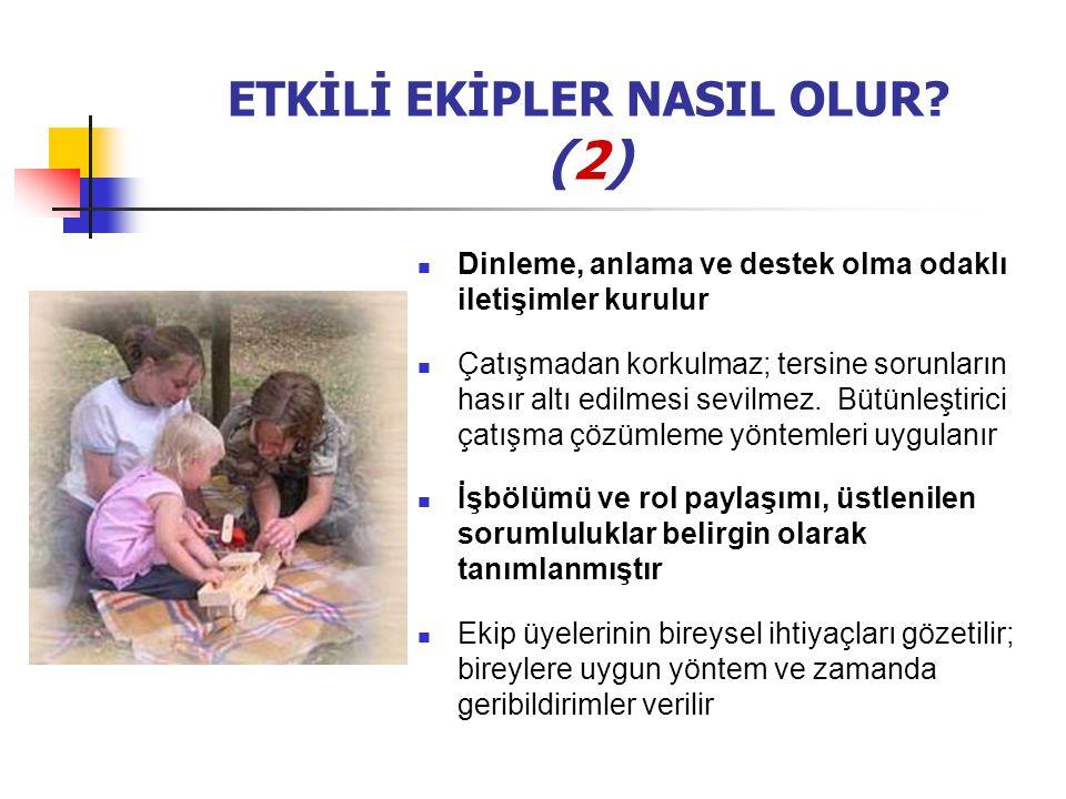 ETKİLİ EKİPLER NASIL OLUR (2)