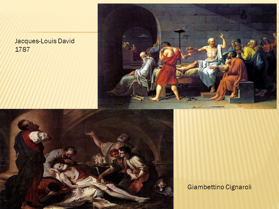Jacques-Louis David 1787 Giambettino Cignaroli
