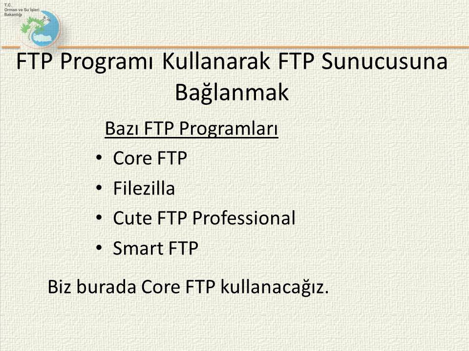 FTP Programı Kullanarak FTP Sunucusuna Bağlanmak