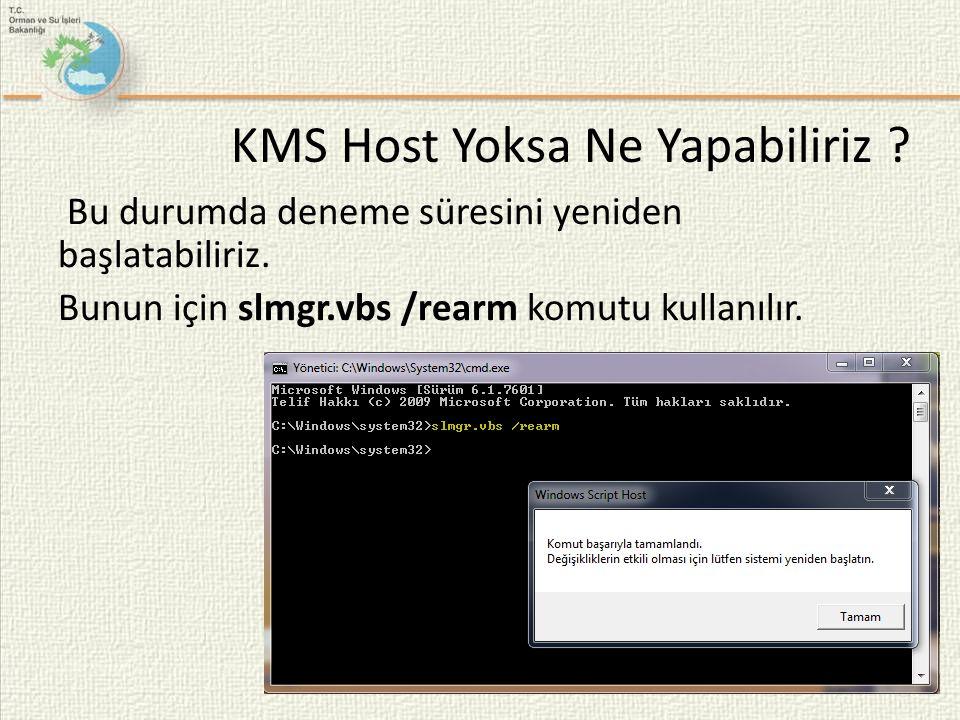 KMS Host Yoksa Ne Yapabiliriz