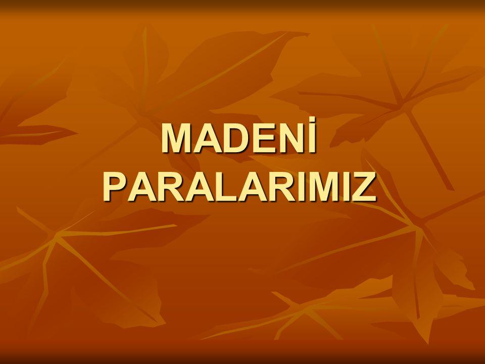 MADENİ PARALARIMIZ