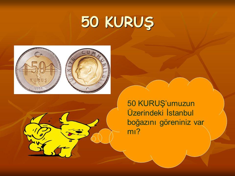 50 KURUŞ 50 KURUŞ'umuzun Üzerindeki İstanbul boğazını göreniniz var mı