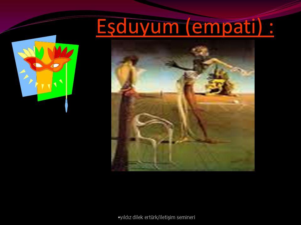 Eşduyum (empati) : yıldız dilek ertürk/iletişim semineri