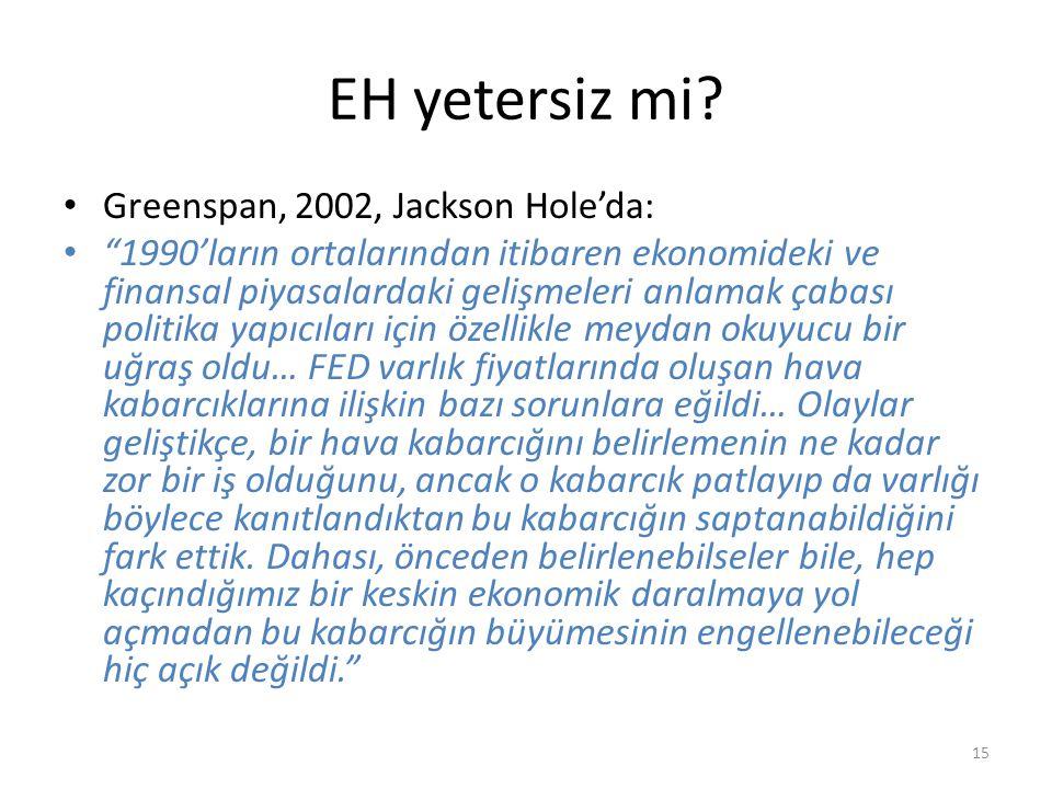 EH yetersiz mi Greenspan, 2002, Jackson Hole'da: