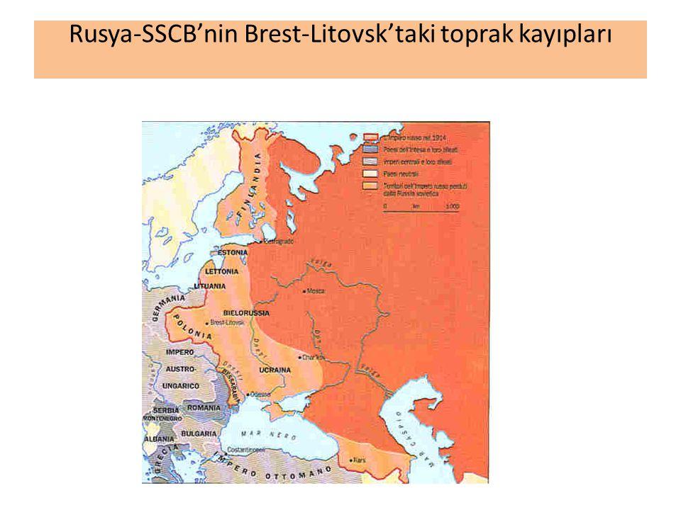 Rusya-SSCB'nin Brest-Litovsk'taki toprak kayıpları