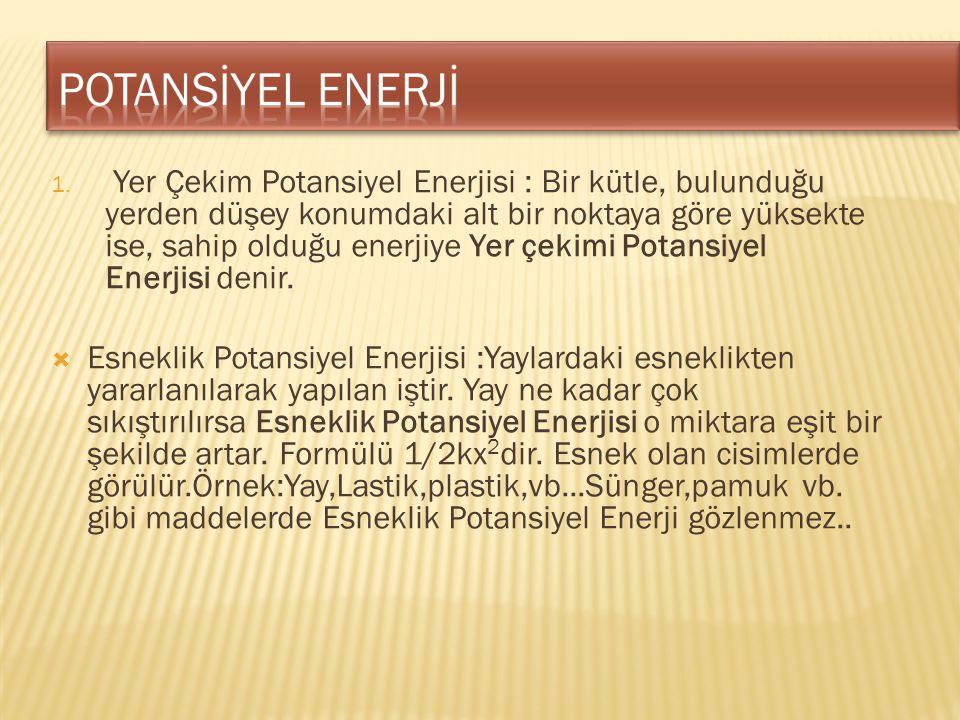 POTANSİYEL ENERJİ