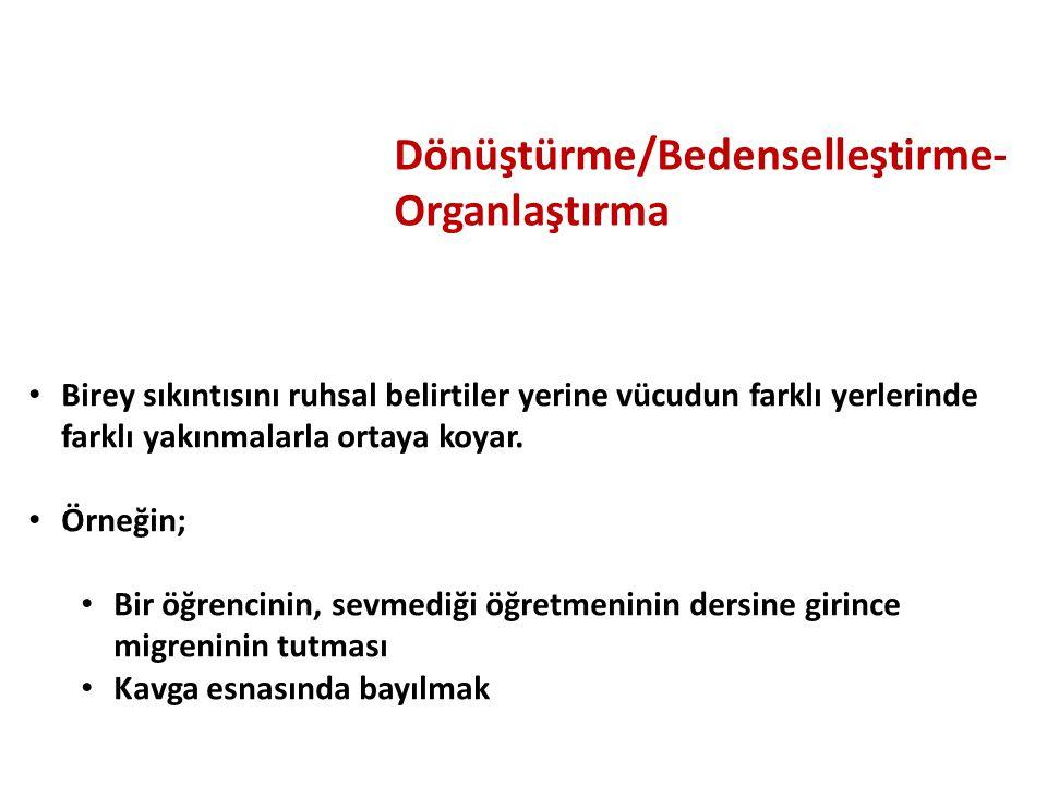 Dönüştürme/Bedenselleştirme-Organlaştırma
