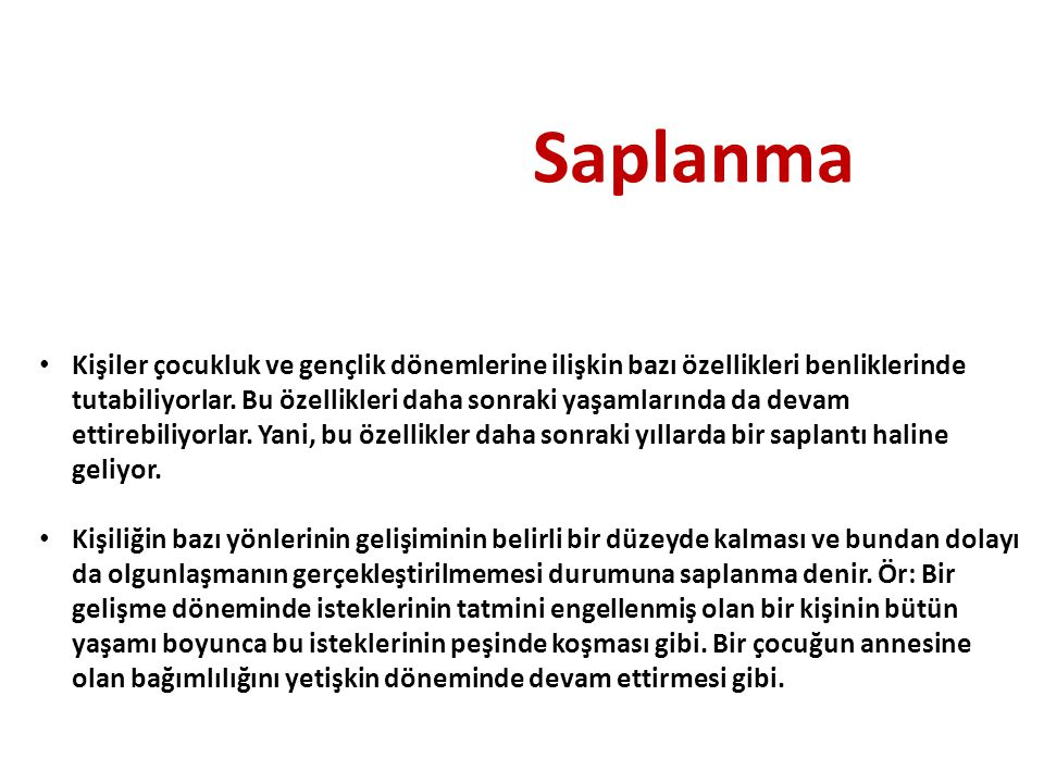 Saplanma