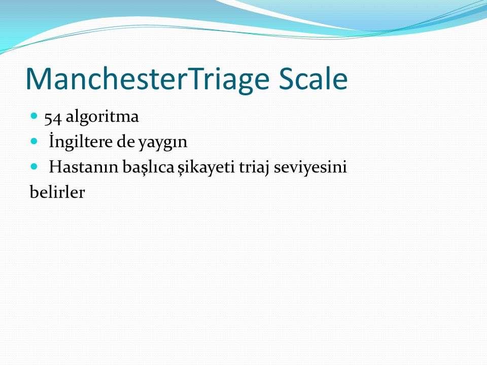 ManchesterTriage Scale