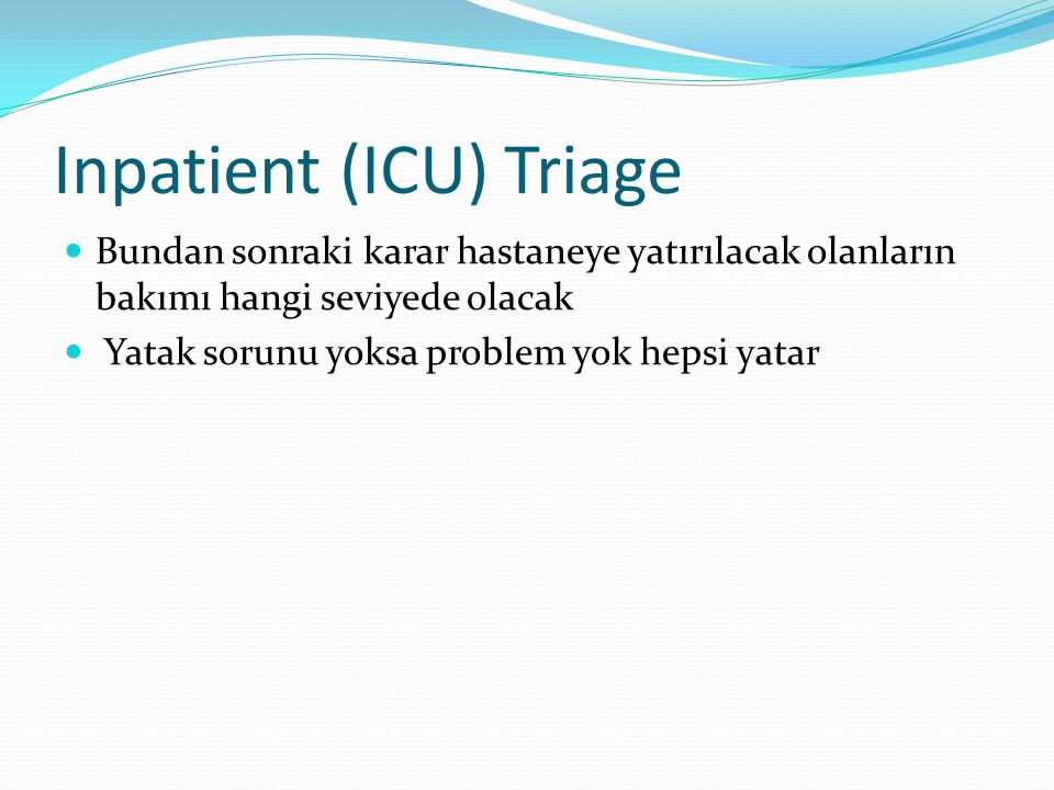 Inpatient (ICU) Triage