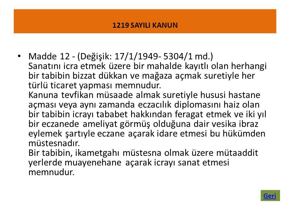 1219 SAYILI KANUN