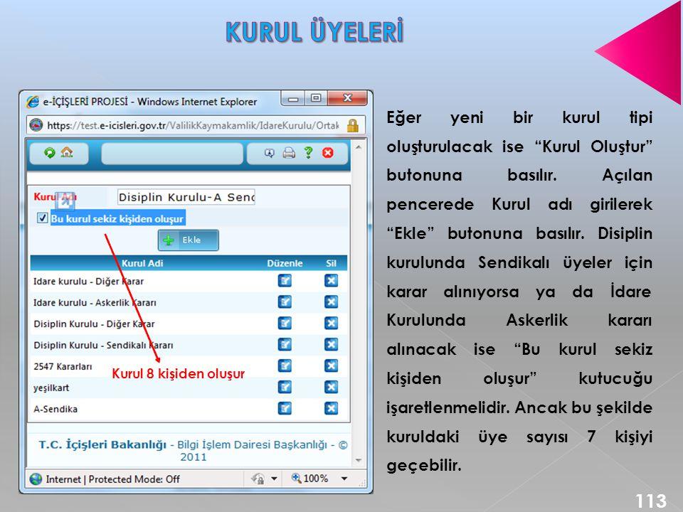 KURUL ÜYELERİ