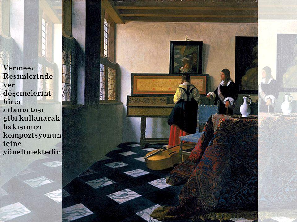 Vermeer Resimlerinde yer döşemelerini.
