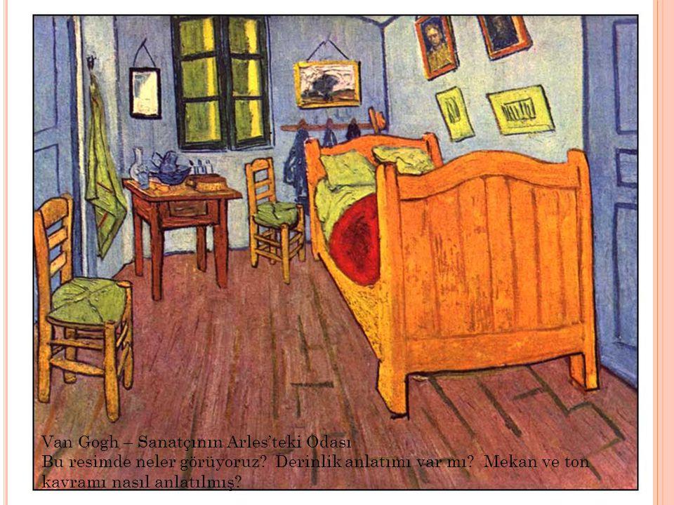 Van Gogh – Sanatçının Arles'teki Odası Bu resimde neler görüyoruz