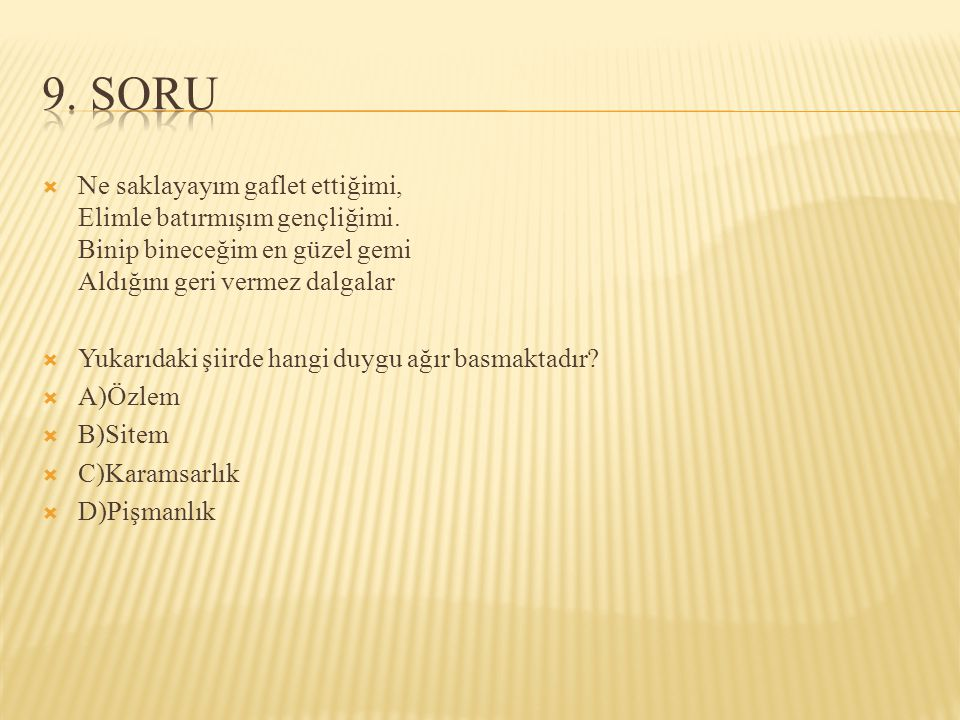 9. SORU