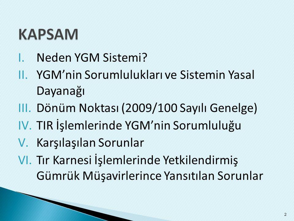 KAPSAM Neden YGM Sistemi