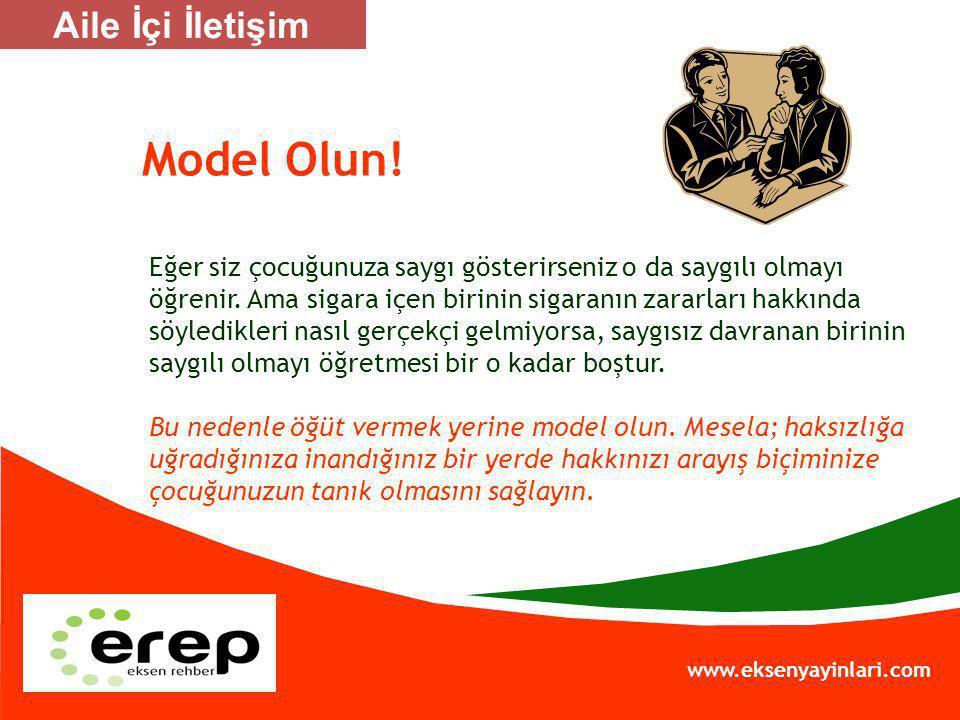 Model Olun! Aile İçi İletişim