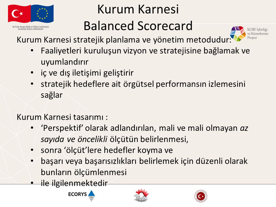 Kurum Karnesi Balanced Scorecard