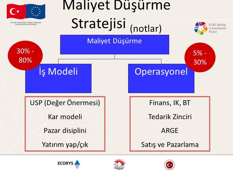 Maliyet Düşürme Stratejisi (notlar)