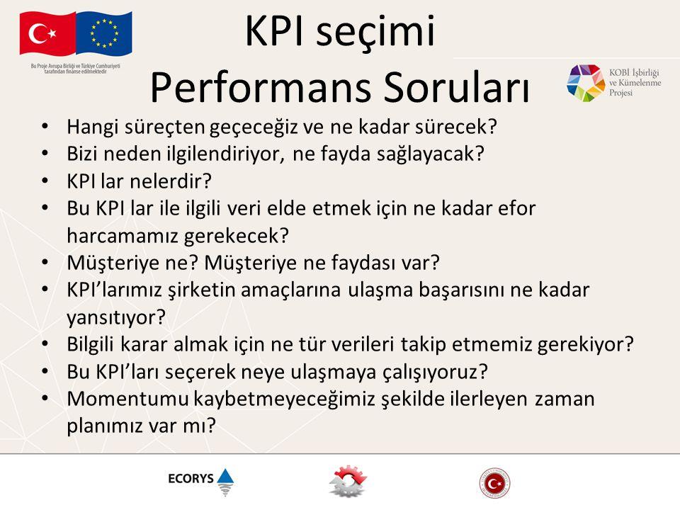 KPI seçimi Performans Soruları