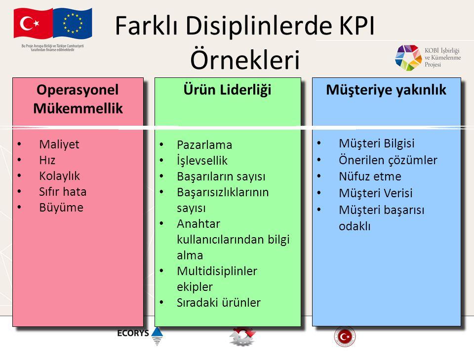 Farklı Disiplinlerde KPI Örnekleri