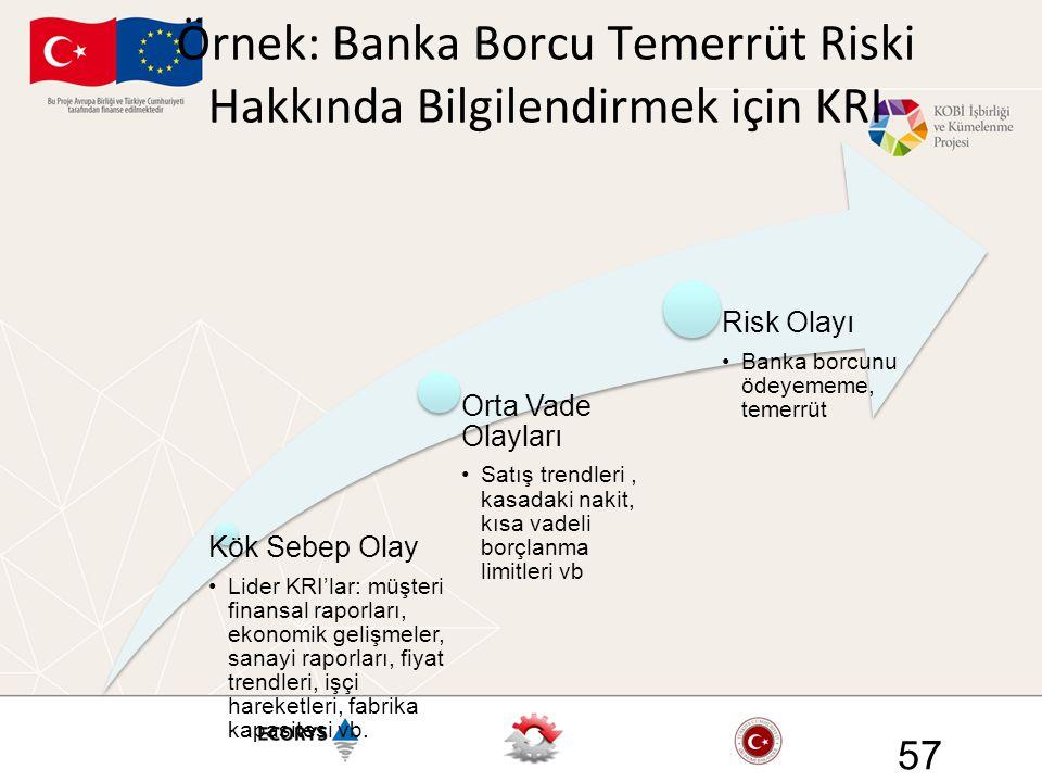 Örnek: Banka Borcu Temerrüt Riski Hakkında Bilgilendirmek için KRI