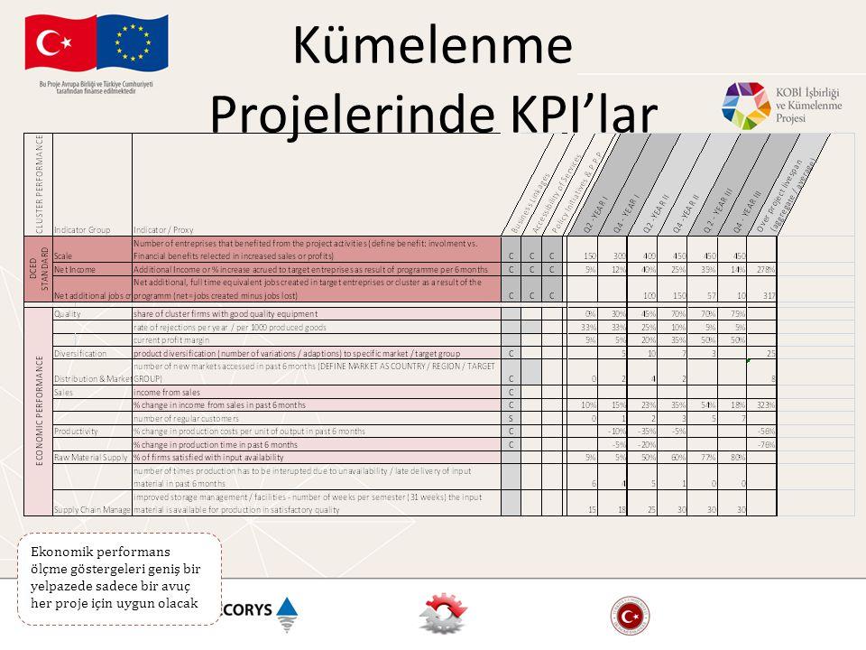 Kümelenme Projelerinde KPI'lar