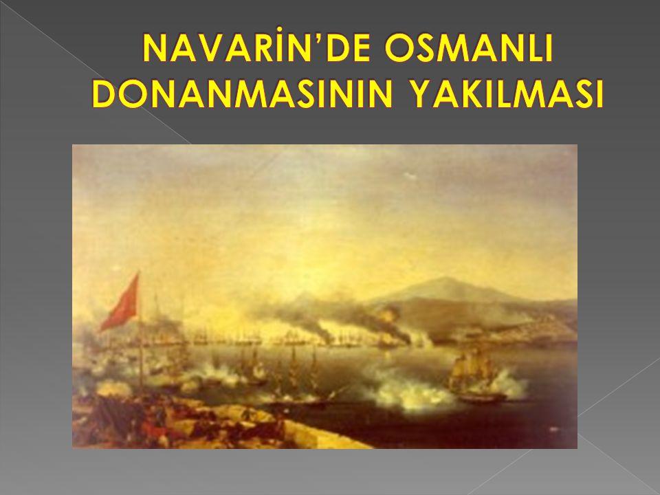 NAVARİN'DE OSMANLI DONANMASININ YAKILMASI