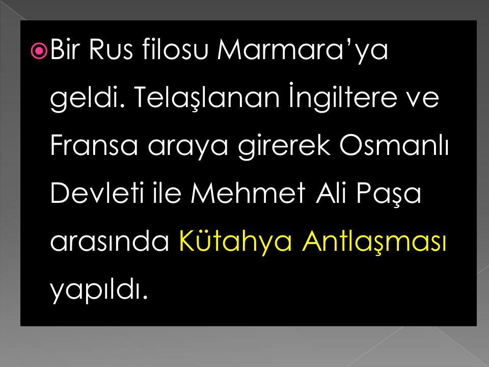 Bir Rus filosu Marmara'ya geldi