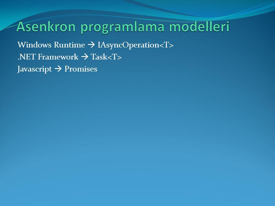 Asenkron programlama modelleri