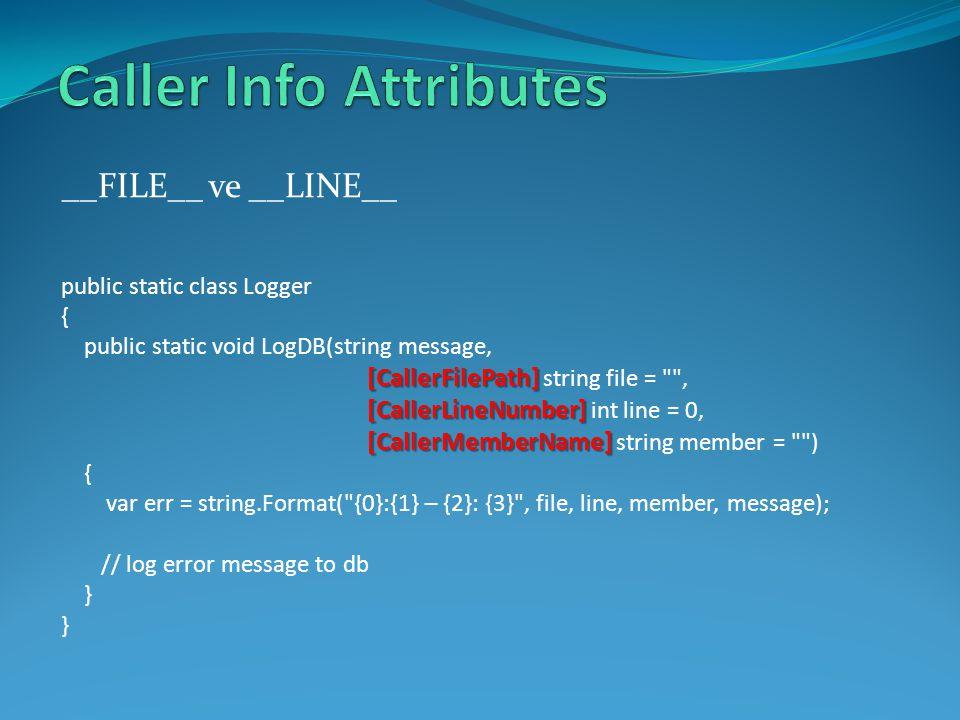 Caller Info Attributes