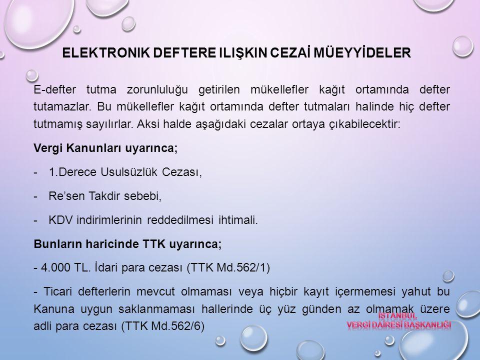 Elektronik deftere ilişkin CEZAİ MÜEYYİDELER