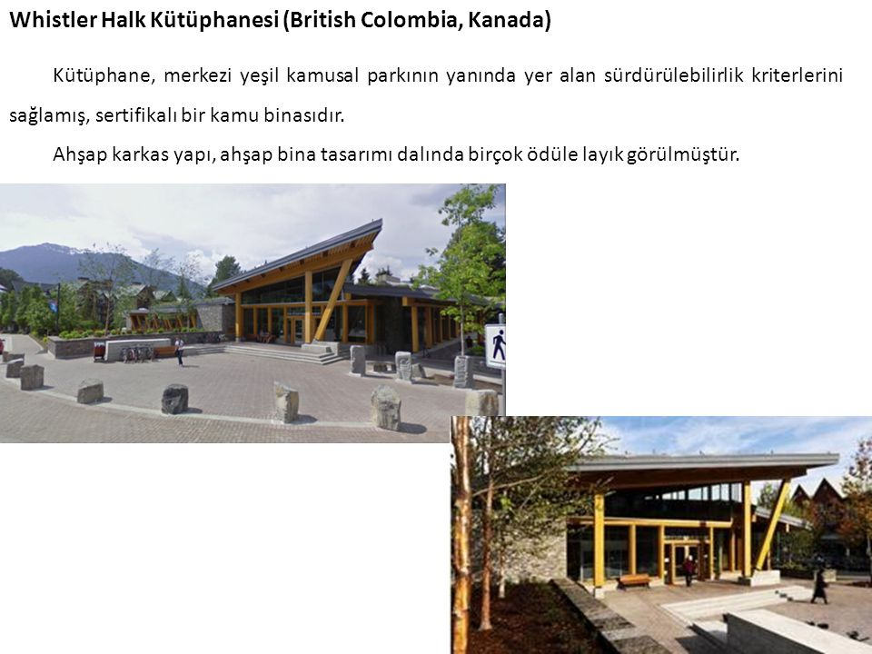 Whistler Halk Kütüphanesi (British Colombia, Kanada)