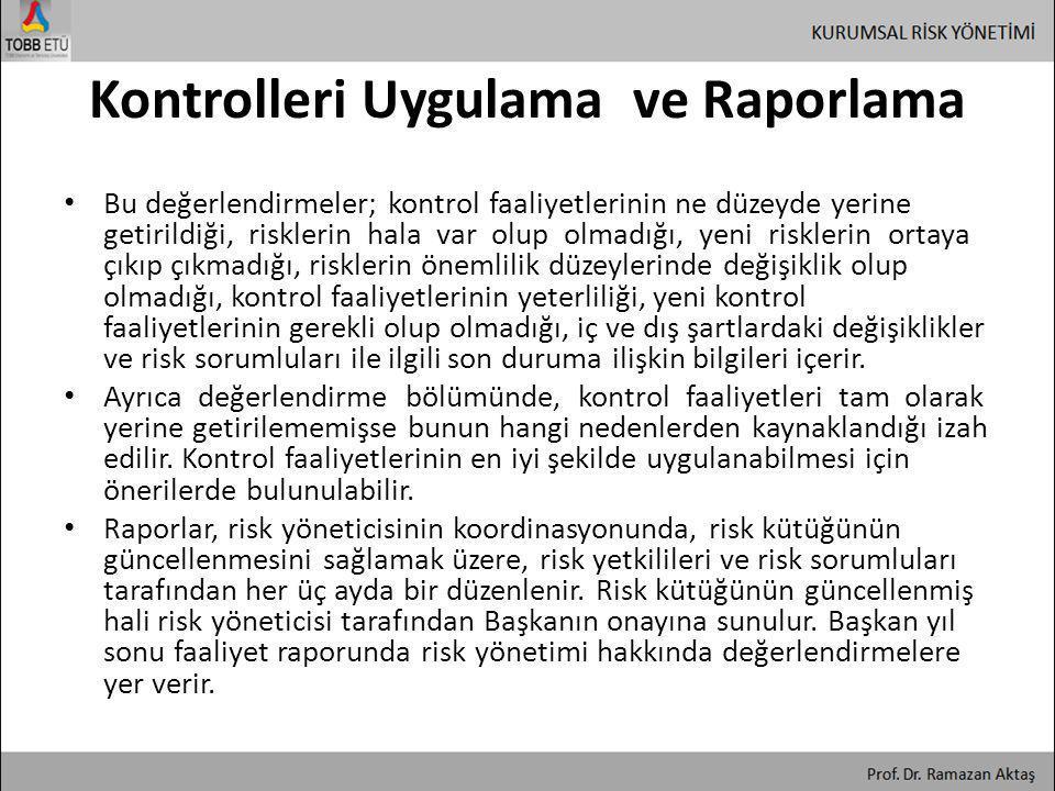 Kontrolleri Uygulama ve Raporlama