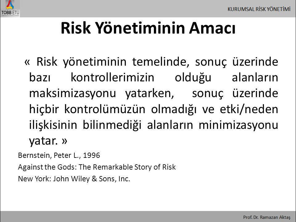 Risk Yönetiminin Amacı
