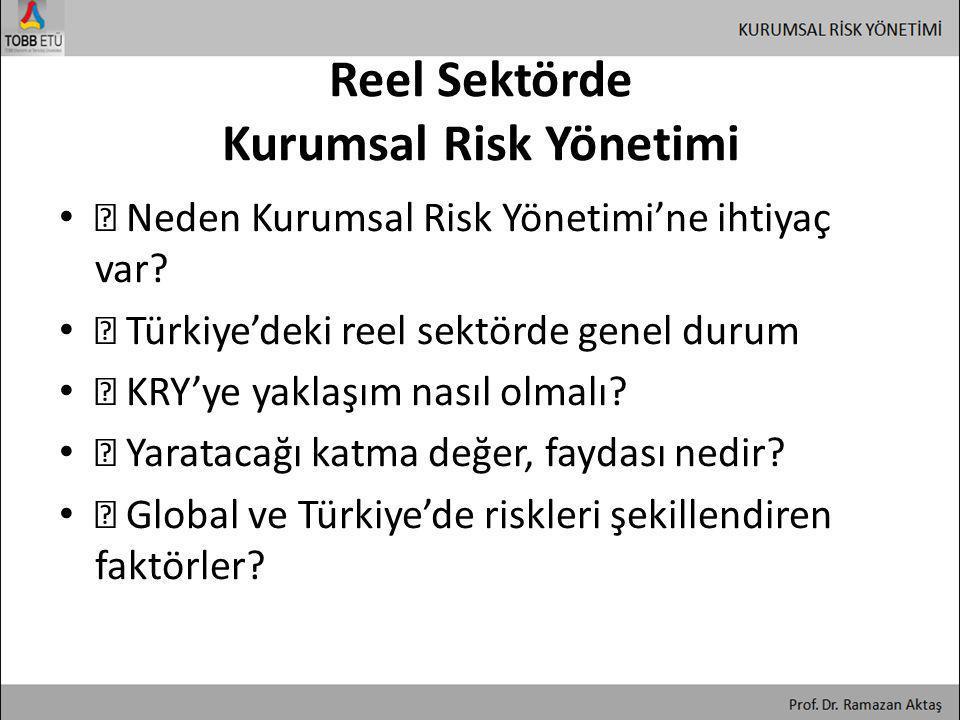 Reel Sektörde Kurumsal Risk Yönetimi