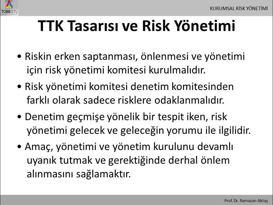 TTK Tasarısı ve Risk Yönetimi