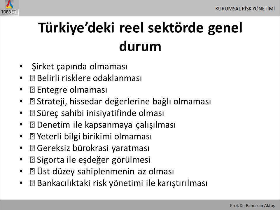 Türkiye'deki reel sektörde genel durum