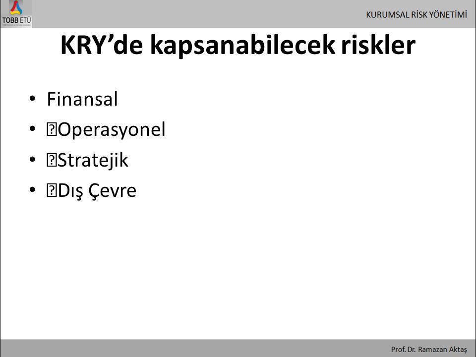 KRY'de kapsanabilecek riskler